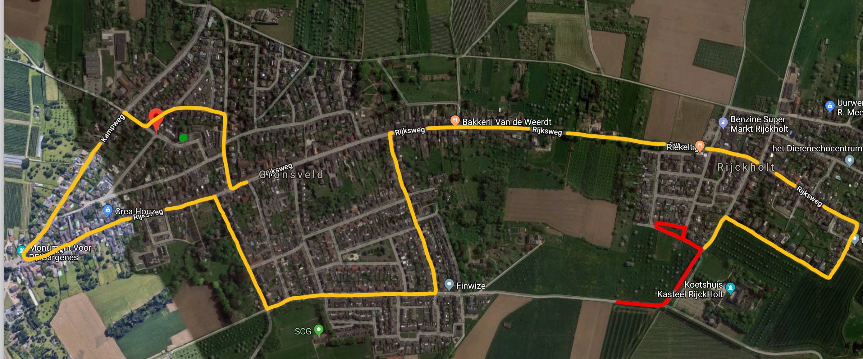 Optocht Route 2019